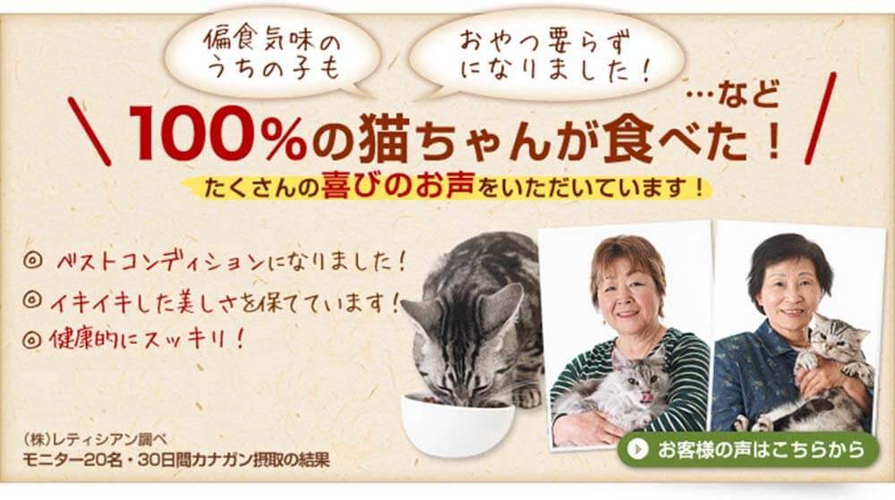 100%の猫ちゃんが食べた!