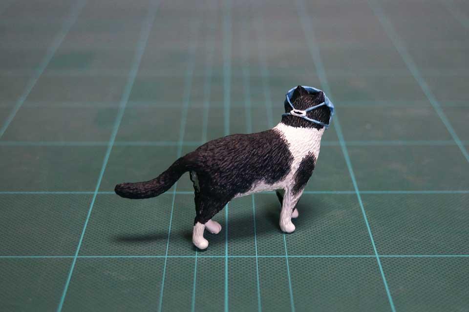 マスク猫のフィギュア